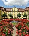 Blühende Rosen im Eingangsbereich des Schlosses Kirchberg. 02.jpg