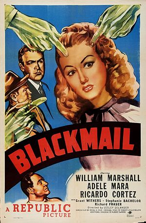 Blackmail (1947 film) - Theatrical release poster