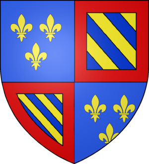 Bourbon family tree - Image: Blason Louis de France duc Bourgogne