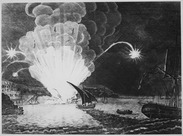 Blowing Up of the Fire Ship Intrepid commanded by Captain Somers in the Harbour of Tripoli on the night of 4th September - NARA - 535739.tif