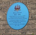 Blue plaque for Henry Fawcett, Brookside - geograph.org.uk - 664743.jpg