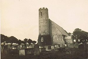 Blundeston - Blundeston Church in 1929.