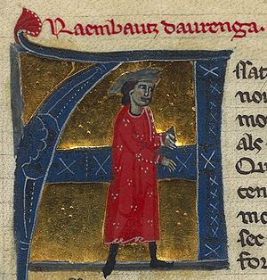 Raimbaut d'Aurenga - Raimbaut from a 13th-century chansonnier
