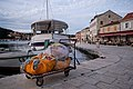 Boats and fishing nets on the Stari Grad harbour, Croatia (PPL1-Corrected) julesvernex2.jpg