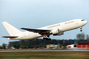 Ethiopian Airlines Flight 961 - The aircraft involved in the accident is seen here at Frankfurt am Main Airport in 1993