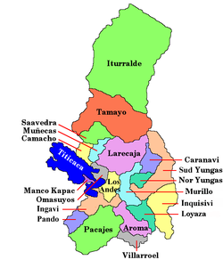 Provinces o La Paz Depairtment