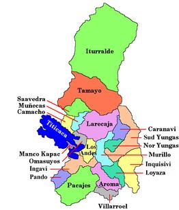 La paz departement van bolivia wikipedia for Donde queda santa cruz