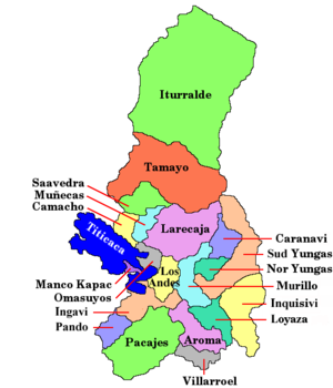 Pacajes Province - Image: Bolivia Departamento La Paz