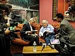 Bolivian Vice President Alvaro Garcia Linera with Noam Chomsky in NYC (8997197774).jpg