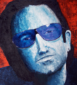 Bono - 60x60 Mixed Media on Canvas by Fine Artist Rene Romero Schuler.png