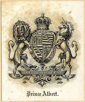 Albert, Prince Consort - Armorial bookplate of Prince Albert