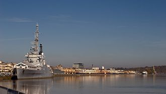 French cruiser Colbert (C611) - Colbert on the Garonne in Bordeaux.