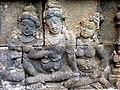 Borobudur - Divyavadana - 071 W, King Rudrayana discusses the Buddha (detail 1) (11706607134).jpg