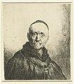 Borstbeeld van een oude man met kalotje Diverse tronikens geets van J. L. (serietitel), RP-P-OB-12.559.jpg
