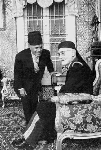 Muhammad VIII al-Amin - Lamine Bey and Prime Minister Habib Bourguiba