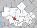 Brébeuf Quebec location diagram.png