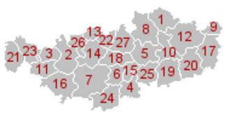 Walloon Brabant - Image: Brabant Wallon Gemeenten