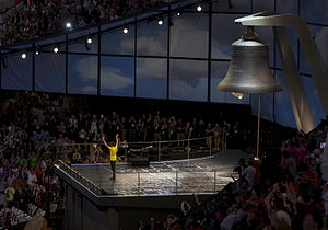 Whitechapel Bell Foundry - Bradley Wiggins began the 2012 opening ceremony by ringing the Olympic Bell.