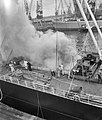 Brand in ruim van schip Portalon, Bestanddeelnr 912-4758.jpg