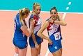 Brankica Mihajlović-Ana Antonijević-Tijana Malešević (team Serbia, 2017).jpg