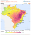Brazil PVOUT Photovoltaic-power-potential-map lang-PT GlobalSolarAtlas World-Bank-Esmap-Solargis.png