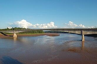 Shubenacadie River - Bridge over the Shubenacadie River at South Maitland.