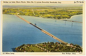 Sandusky Bay - Original Bay Bridge carrying SR 2 c.1930s