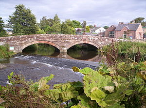 River Ellen - Bridge over the River Ellen dividing Baggrow and Blennerasset
