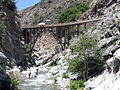 Bridge to Nowhere from upstream in the Narrows.jpg