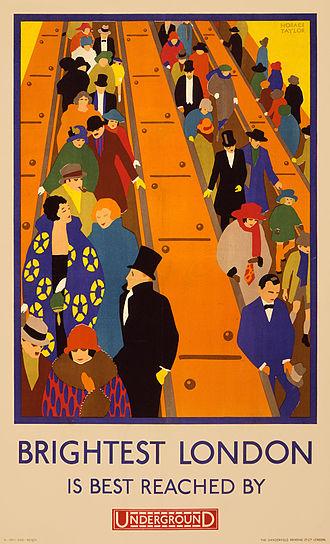 London Underground infrastructure - 1924 Underground advertising poster