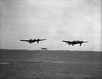 RAF Advanced Air Striking Force - Image: Bristol Blenheim Poix Royal Air Force France, 1939 1940. C1166
