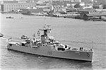 Brits vlootbezoek aan Amsterdam twee van de drie fregatten op het IJ, Bestanddeelnr 922-4544.jpg