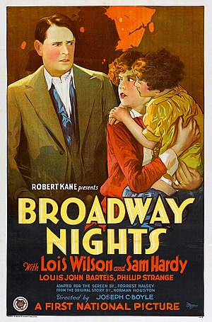 Broadway Nights - Image: Broadway Nights (1927) film poster