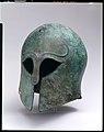 Bronze helmet of Corinthian type MET GR1042.jpg