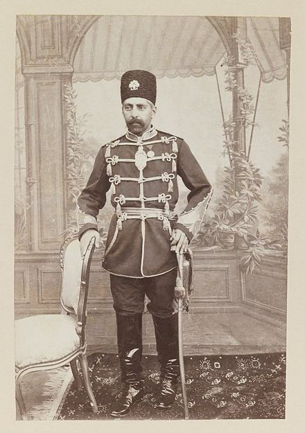 Portrait of Prince Abdul Husayn Mirza (Farma Farmaian), One of 274 Vintage Photographs. Brooklyn Museum. - Abdol-Hossein Farmanfarma