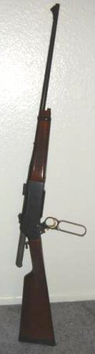 Browning BLR - Browning BLR in 7mm Remington Magnum (note the gear in the open action)