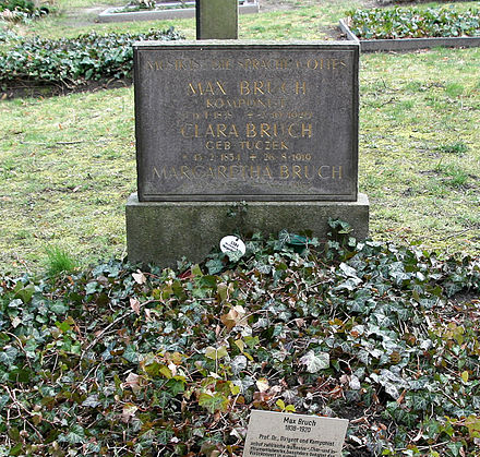 Bruch's grave, at the Old St. Matthaus churchyard at Berlin-Schoneberg Bruch-tomb.JPG