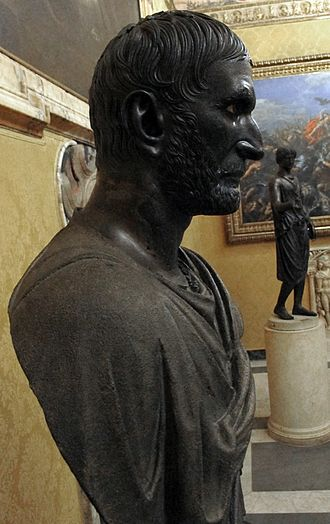 Capitoline Brutus - Profile view of the bust