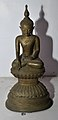 Buddha in Bhumisparsha Mudra - Bronze - Circa 18th Century CE - ACCN 12-275 - Government Museum - Mathura 2013-02-24 6577.JPG