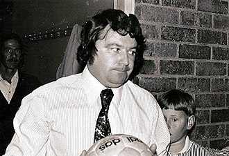 Johnny Byrne (footballer) - Byrne pictured in Cape Town, South Africa, in the early 1970s.