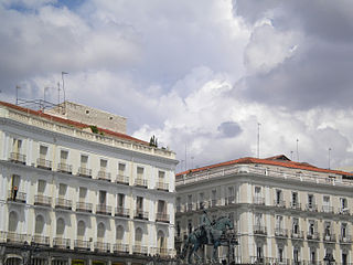 Buildings in Puerta del Sol in Madrid.jpeg