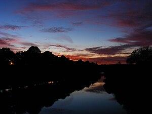 Llanelwedd - Image: Builth Wells sunset 01