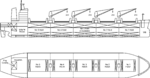 Line plan of a 1990 Capesize ore carrier.