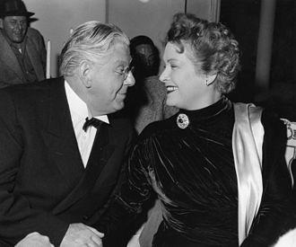 Olga Chekhova - Chekhova at the Göttinger film festival in October 1953, sitting with Walter Janssen.