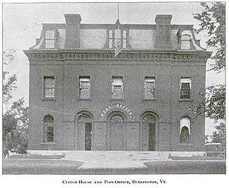 Chittenden County Superior Courthouse - Image: Burlington Custom House