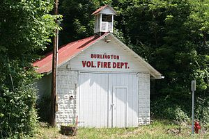 Burlington, West Virginia - Old Engine House of the Burlington Vol. Fire Company, built c. 1935