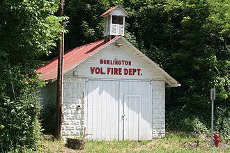 Burlington, West Virginia - Old Engine House of the Burlington Vol. Fire Company, built c. 1935