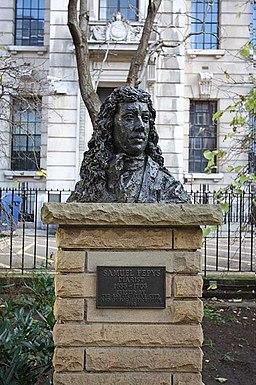 Bust of Samuel Pepys, Seething Lane, London EC3 - geograph.org.uk - 1077498