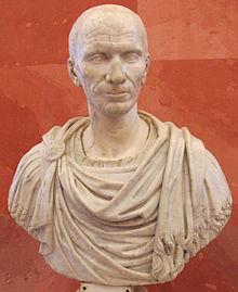 Byste av julius cæsar , den mest berømte fra gens julia , en