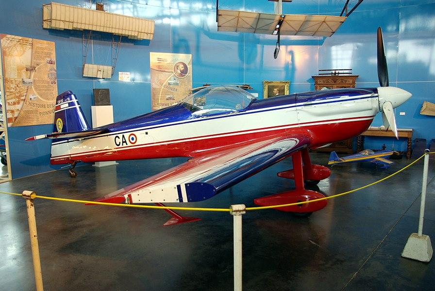 CAP 232 n°18, ancien de l'armée de l'air française, exposé à l'Espace Air Passion à Angers-Marcé.
